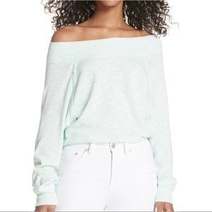Free People Palisades Mint Green Tunic Knit Top